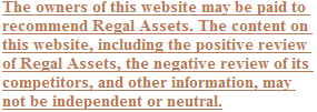Regal Assets Disclosure
