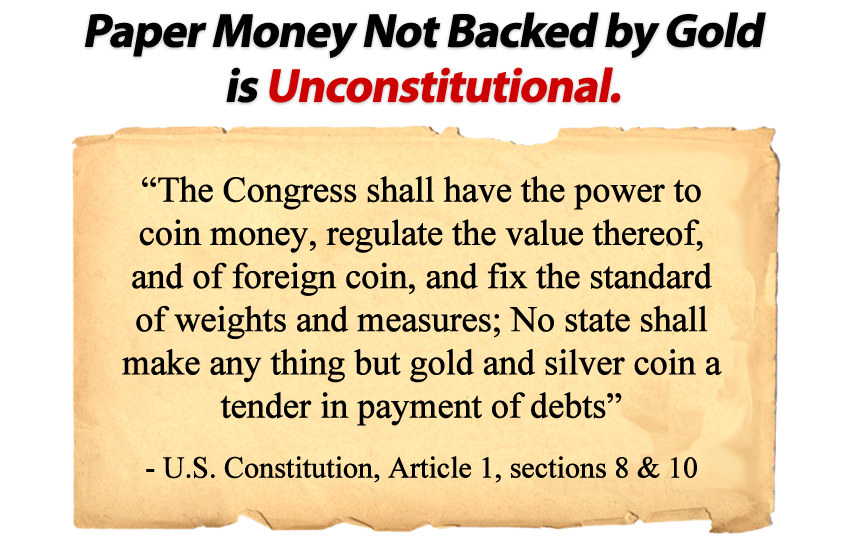 Paper Money Not Backed By Gold